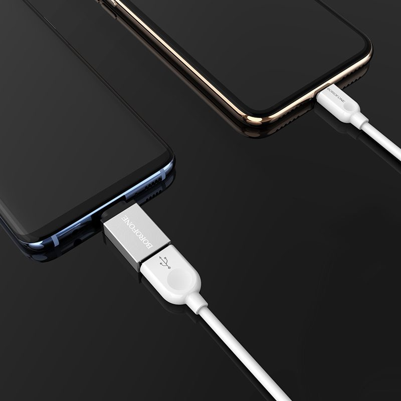 borofone bv3 usb to type c otg adapter phones