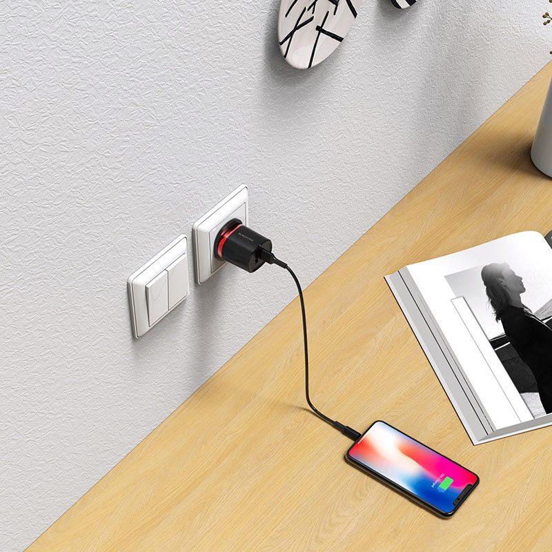 Wall charger BA7B FlashPlug UK set with cable