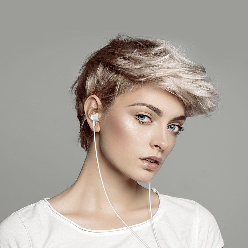 borofone bm21 graceful universal earphones with mic girl