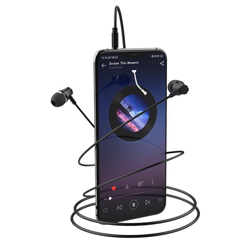 borofone bm21 graceful universal earphones with mic phone