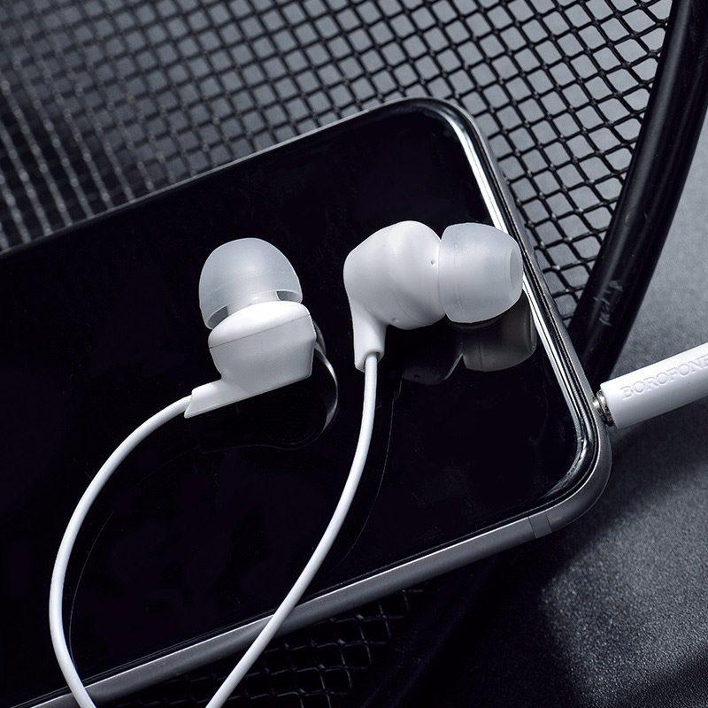 borofone bm28 tender sound universal earphones with mic phone
