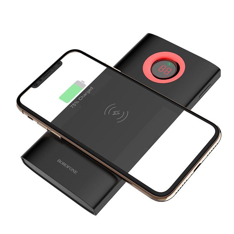 borofone bt16 airpower wireless charging power bank 10000mah charge