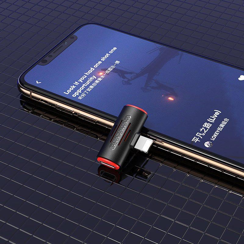 borofone bv6 comfortable apple dual lightning digital audio converter adapter