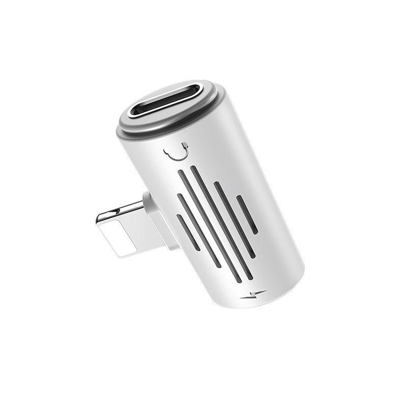 borofone bv6 comfortable apple dual lightning digital audio converter connector