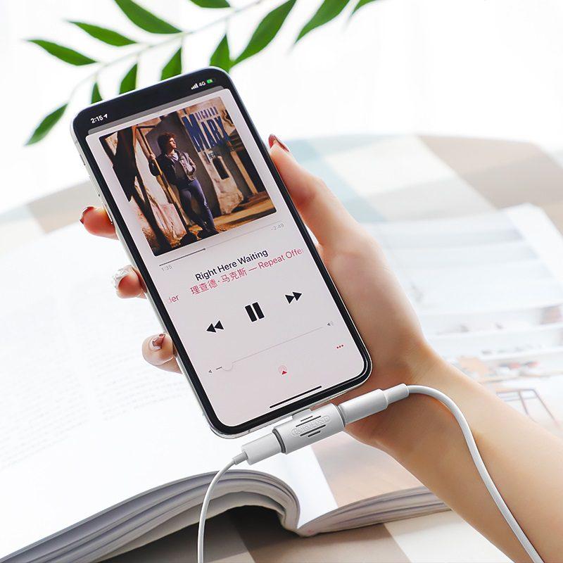 borofone bv6 comfortable apple dual lightning digital audio converter earphones