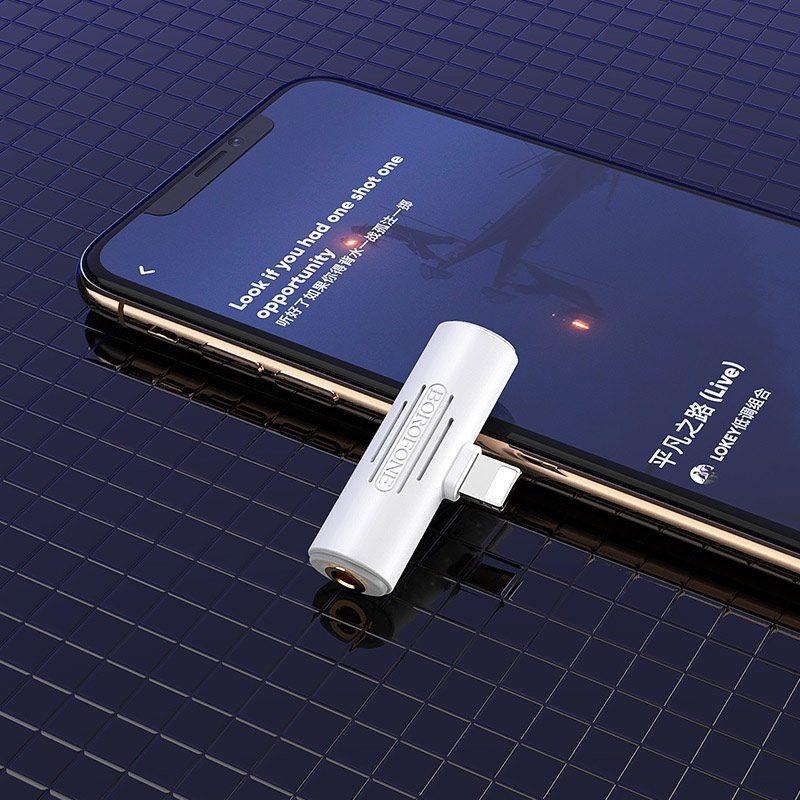 borofone bv7 light lightning digital 3 5mm audio converter adapter