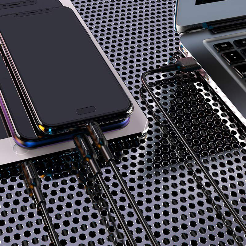 Cable 3-in-1 Lightning / Micro-USB / USB-C BX1 EzSync