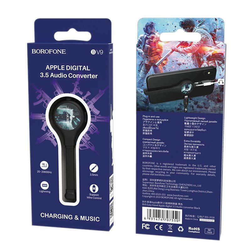 borofone bv9 easy travel apple digital 3.5 audio converter packages