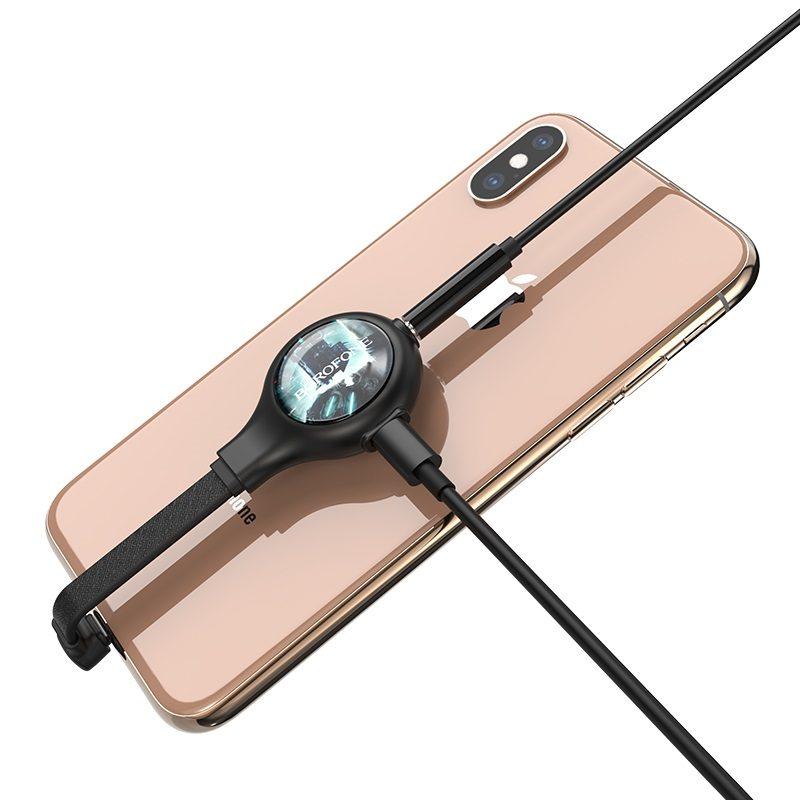 borofone bv9 easy travel apple digital 3.5 audio converter phone back