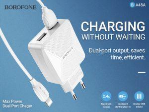 BOROFONE BA45A Max power dual port charger