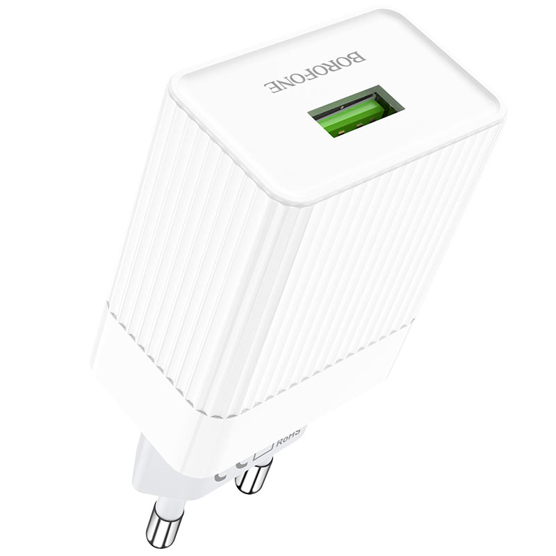 borofone ba47a mighty speed single port qc3 wall charger eu port