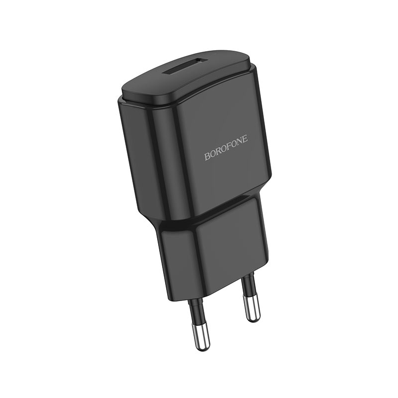 borofone ba48a orion single port wall charger front