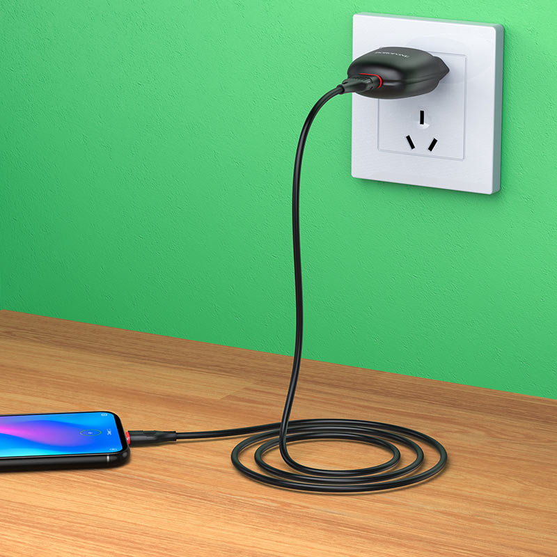 borofone ba49a vast power single port wall charger eu usb c set overview