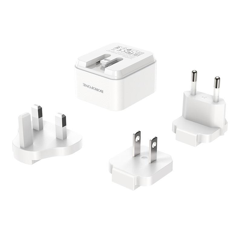 borofone ba51 easy removable pin wall charger us eu uk pin