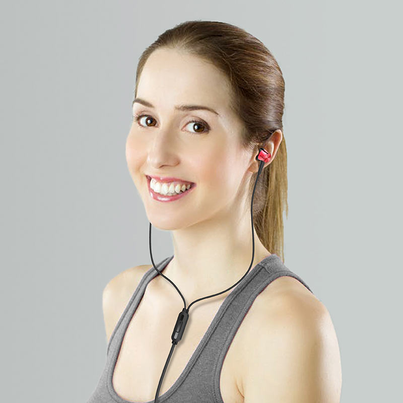 borofone bm52 revering wired earphones with microphone woman