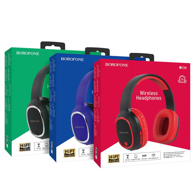 borofone bo9 pearl wireless headphones packages