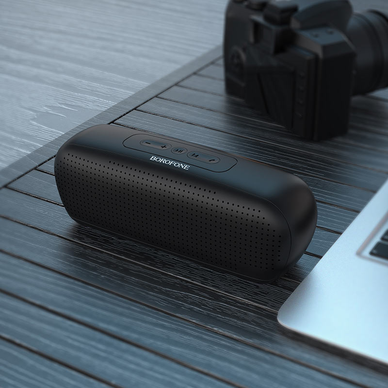 borofone br11 sapient sports wireless speaker interior black