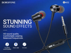 Read more about the article BOROFONE BM52 Revering wired earphones