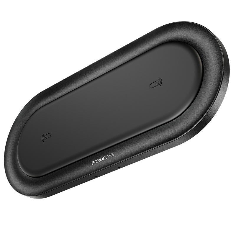 borofone bq7 prominent dual 10w wireless fast charger