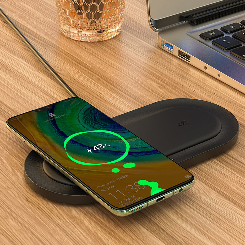 borofone bq7 prominent dual 10w wireless fast charger charging