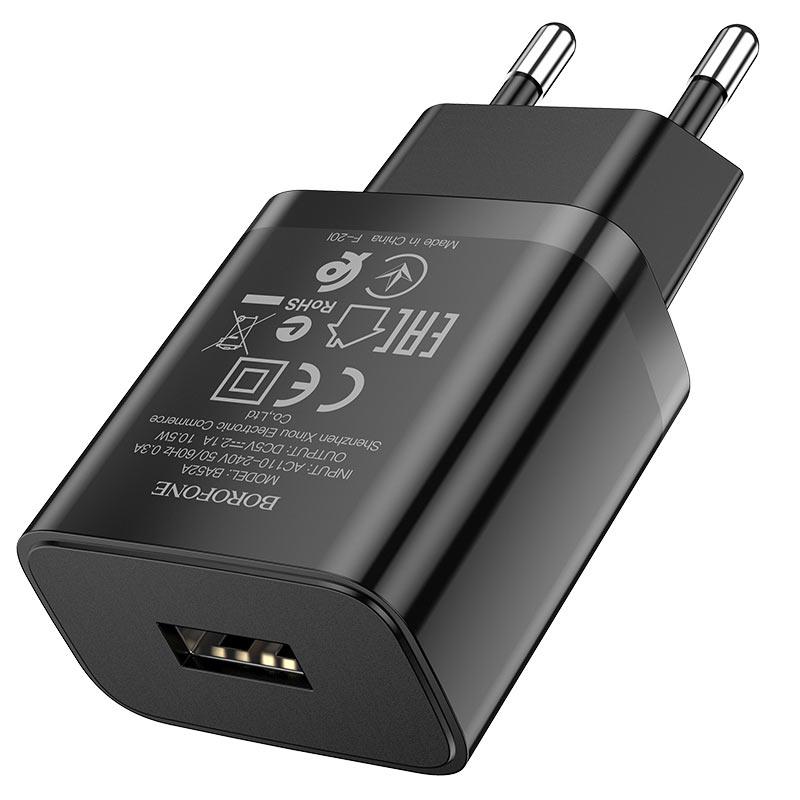borofone ba52a gamble single port wall charger eu plug usb