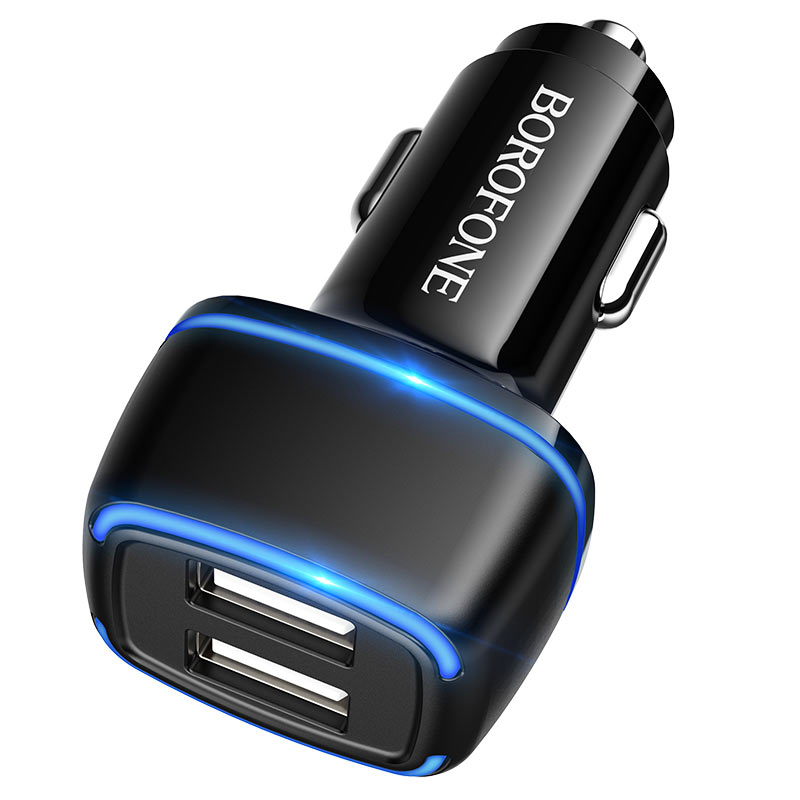 borofone bz14 max dual port ambient light car charger output