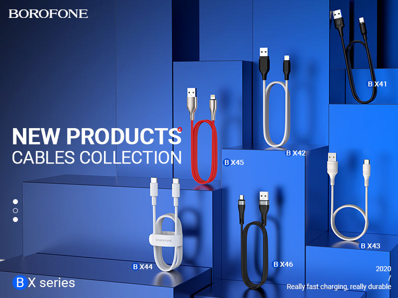borofone news hot selling cables collection banner en