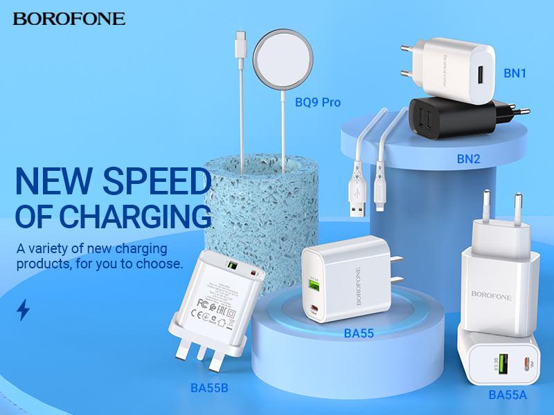 borofone news chargers collection december 2020 banner en